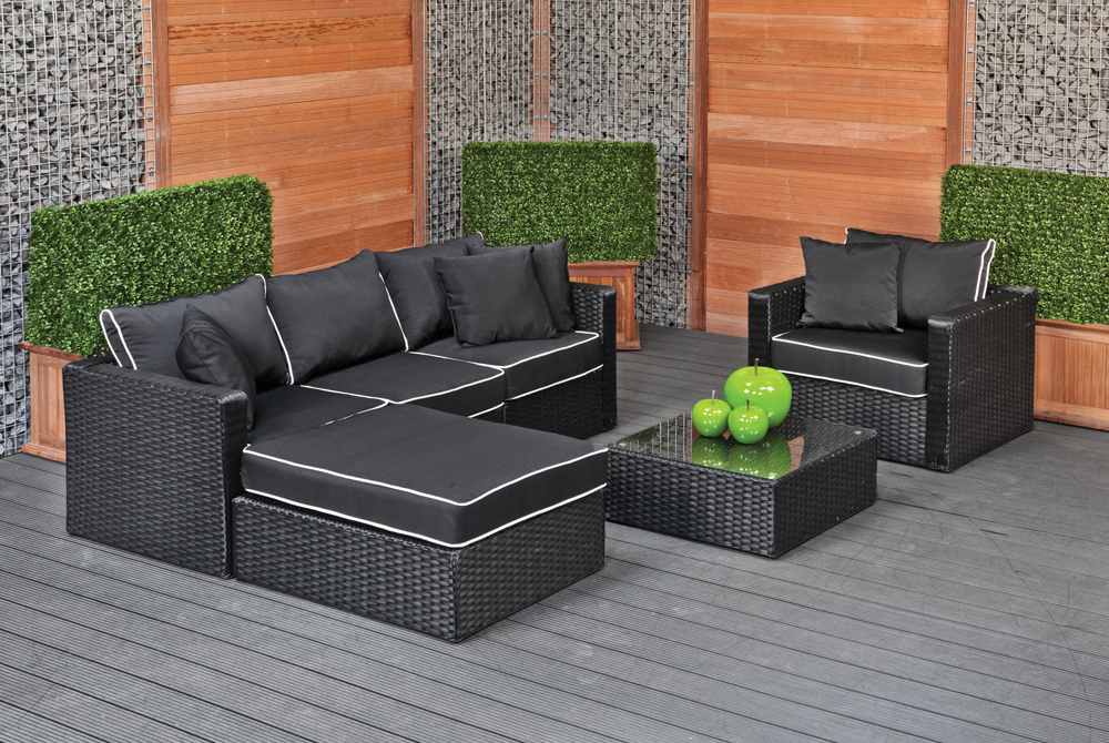 loungesets tuin wicker loungebank lounge sets terras. Black Bedroom Furniture Sets. Home Design Ideas