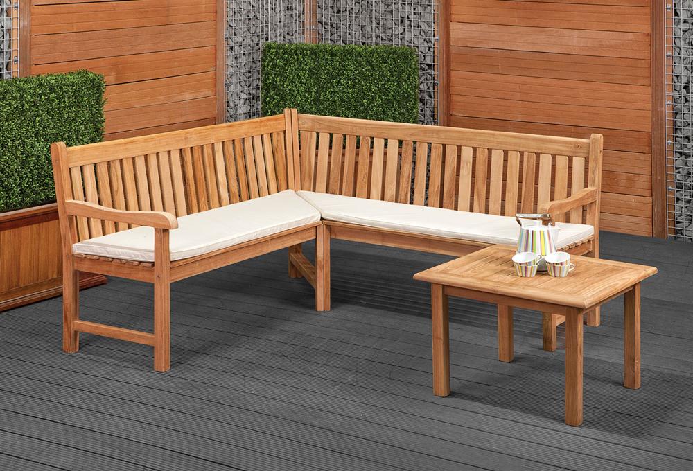 Hoekbank tuin goedkoop uniek en exclusief loungeset tricolore alleen bij arbrini meubels en - Modern tuinbekken ...