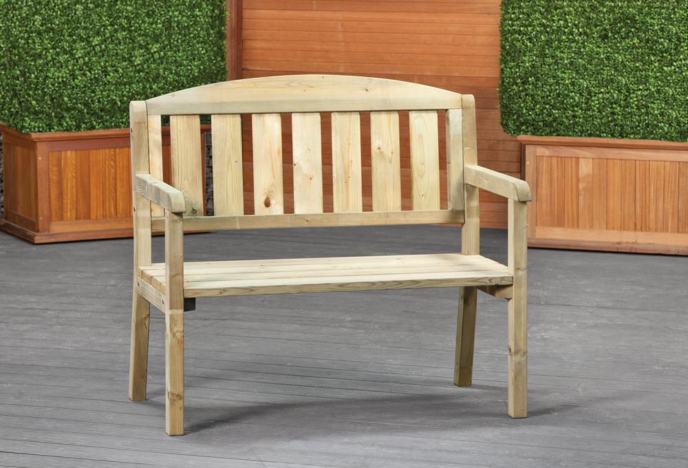 houten tuinbank 120 x 100 cm goedkope bankje voor buiten. Black Bedroom Furniture Sets. Home Design Ideas