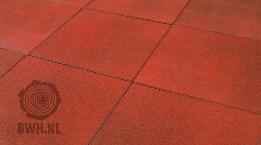 Rubber tegel 50 x 50 cm gadero - Rode metro tegel ...