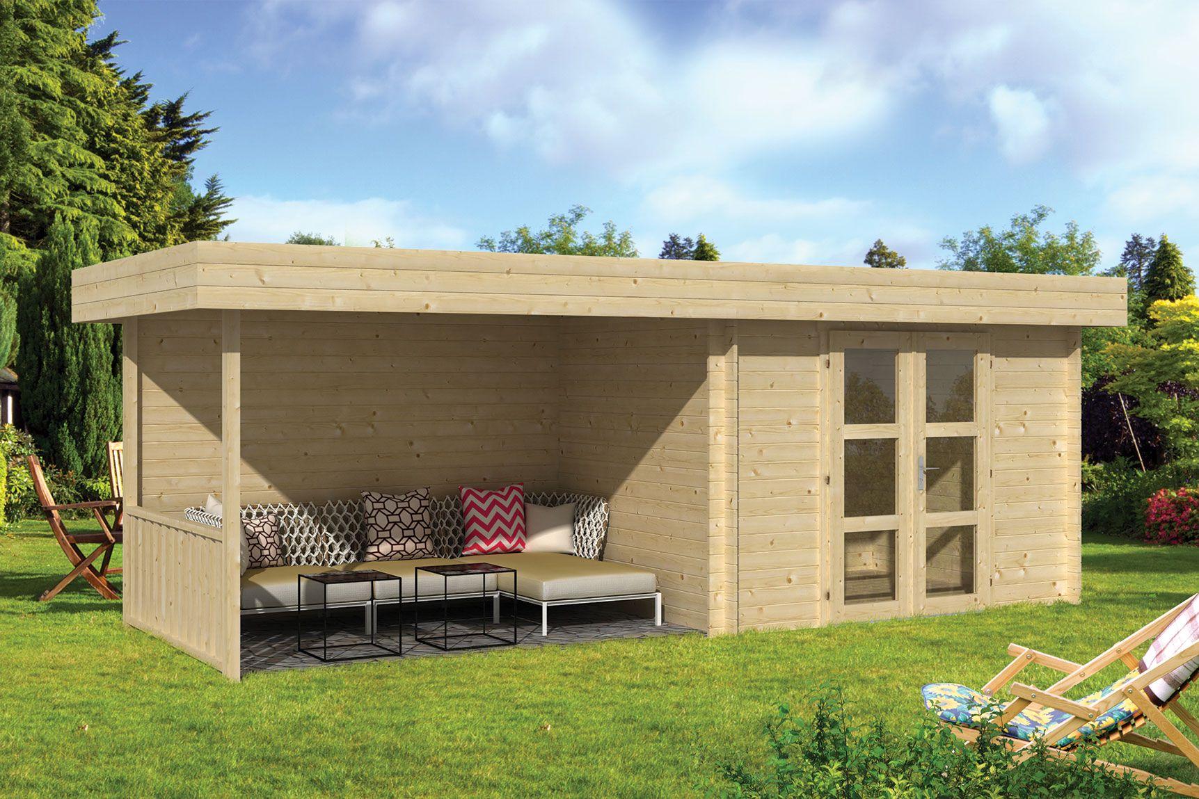 Kosten overkapping hout good lariks veranda bouwpakket Erhardt markisen kosten