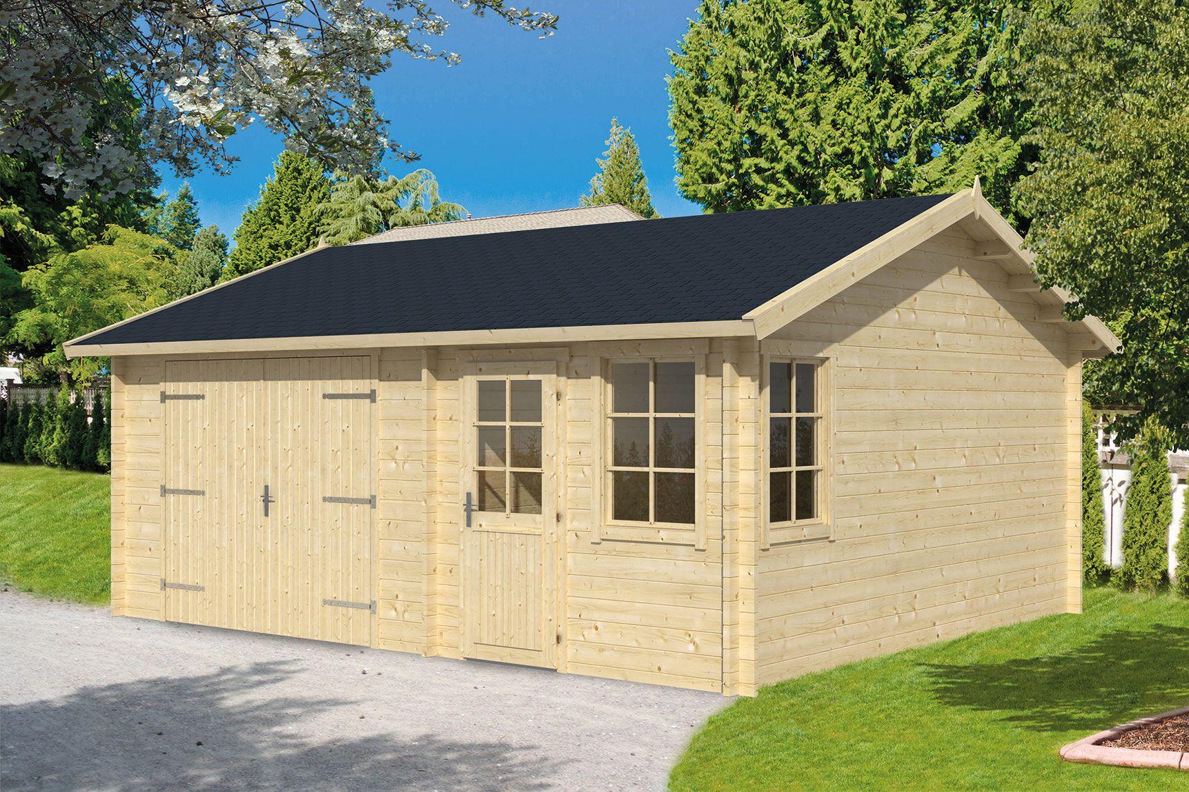 Houten Garage Prijs : Houten garage moa cm schuur van hout