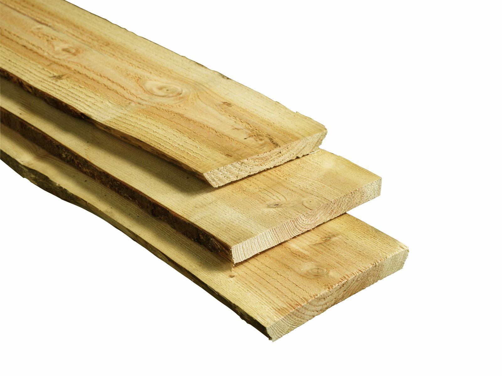 Boomstam Schaaldeel Plank Lariks Douglas geimpregneerd 2.0 x 15/25 x ...