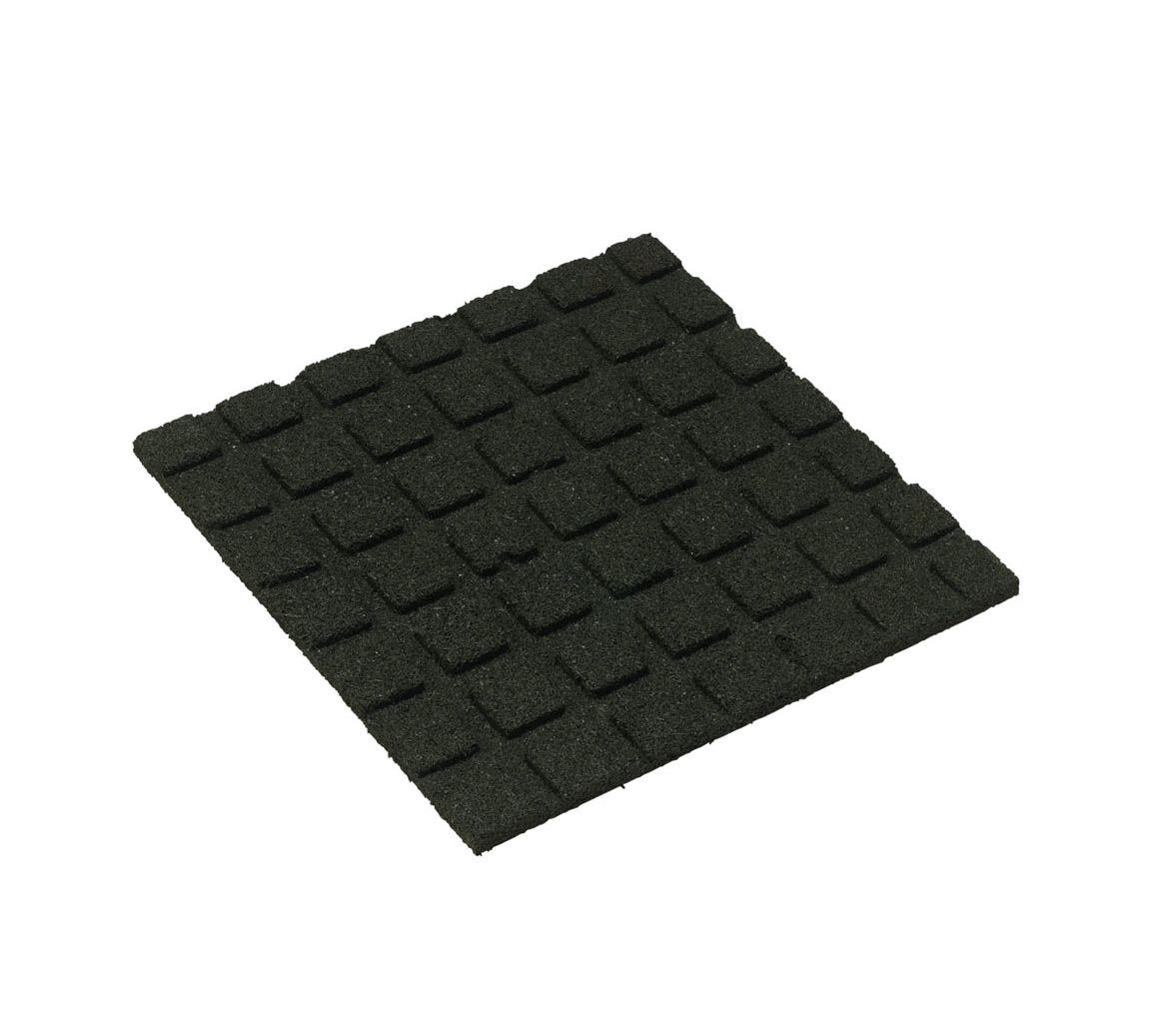 Rubber Matten Speeltoestel.Zwarte Rubberen Tuintegel 50x50 Cm