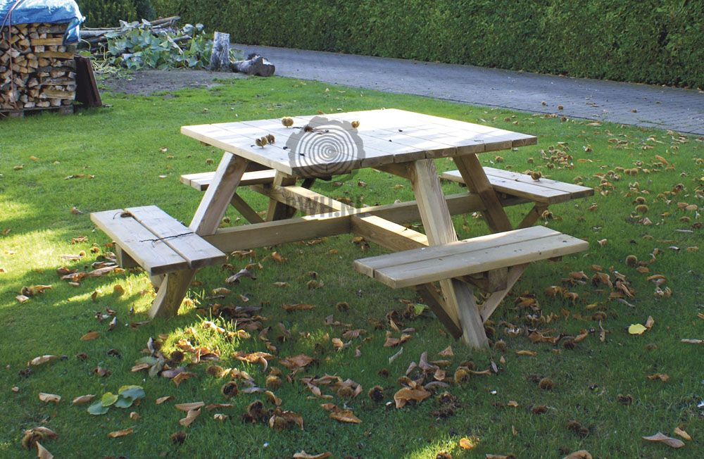 Picknicktafel luxe 8 persoons