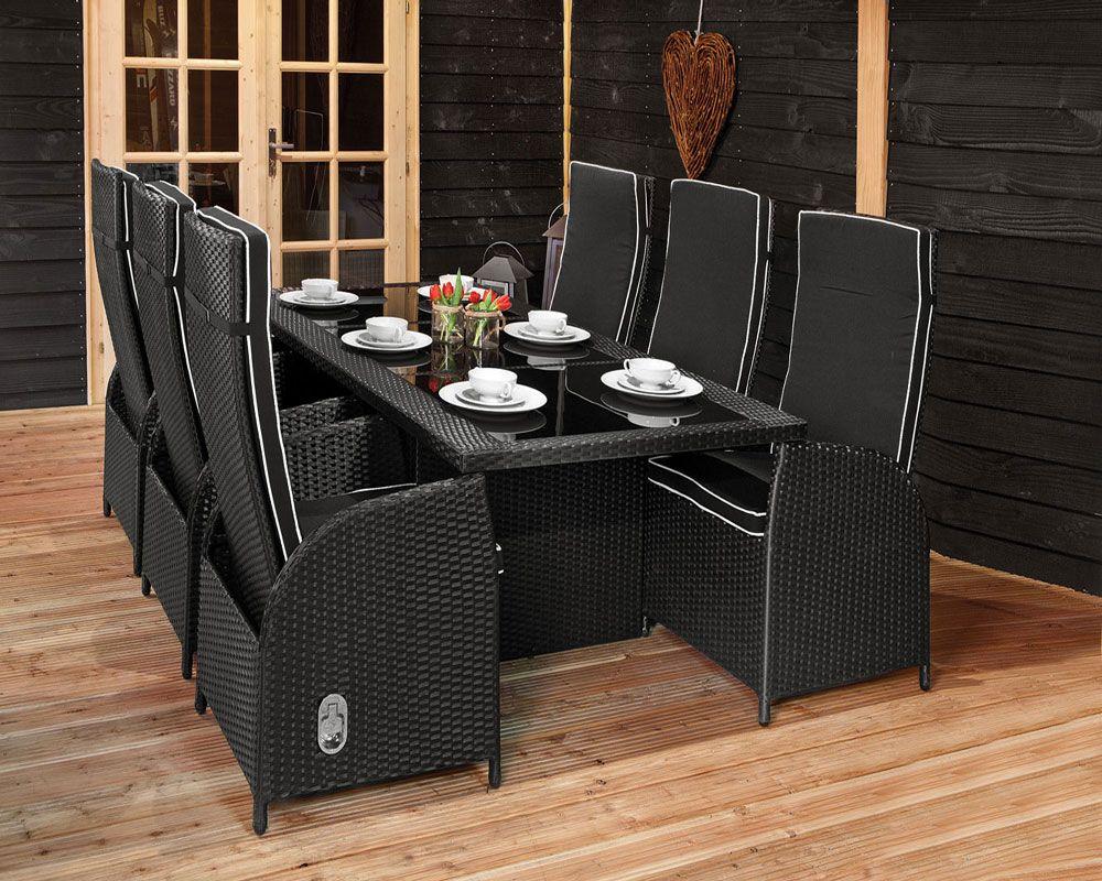 6 persoons eettafel met stoelen bizconnect