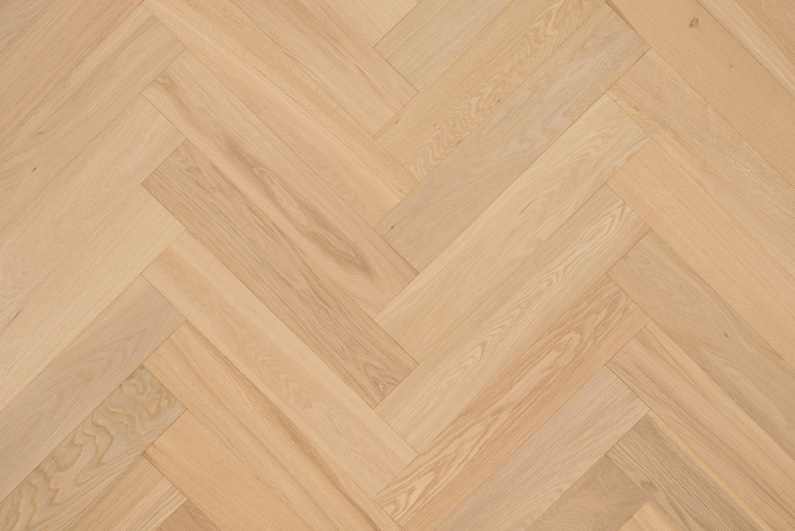 Onbehandelde eiken houten parket vloeren licht eik natuur