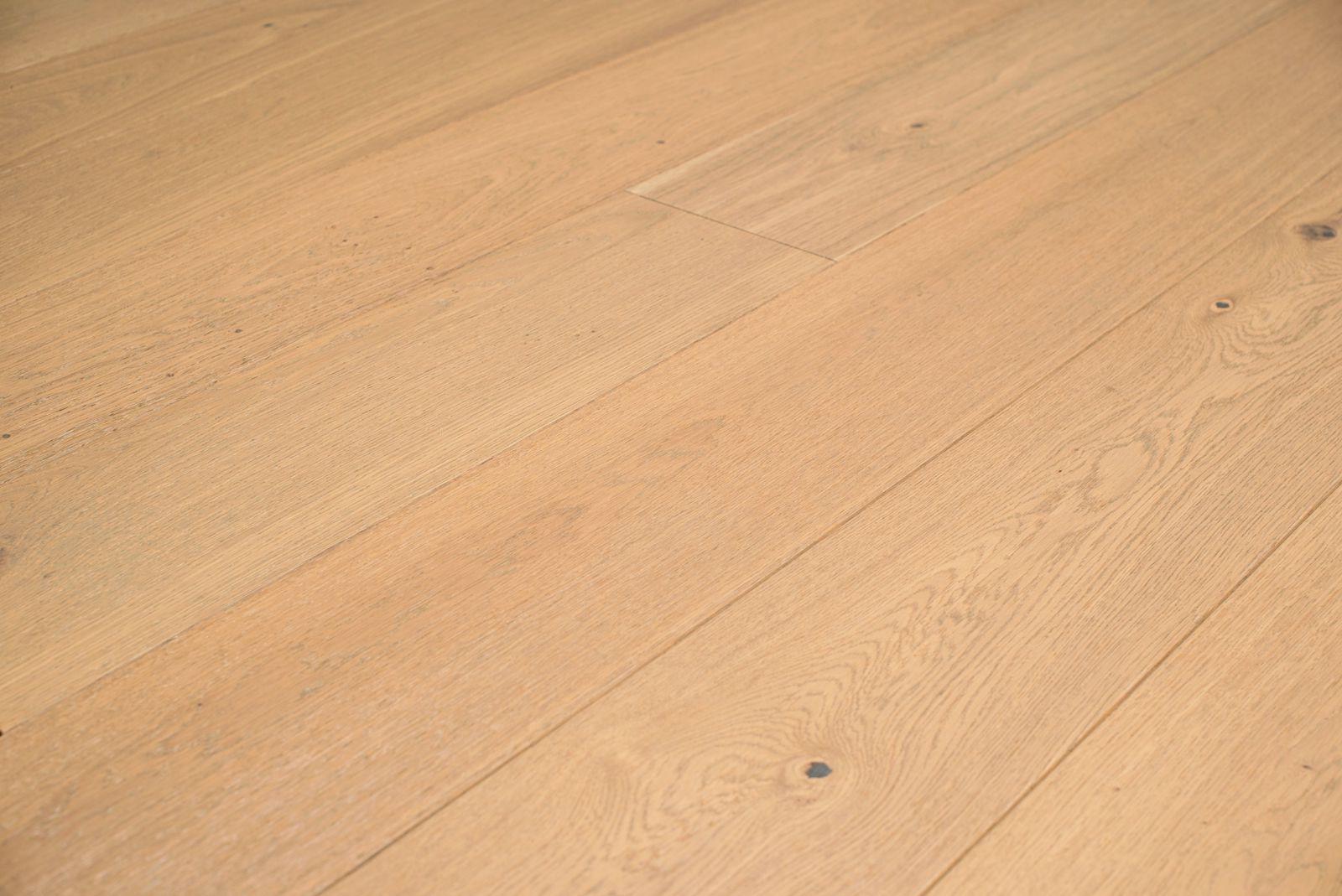 Fesca voordelig eiken duoplank parket witte houten vloer wit