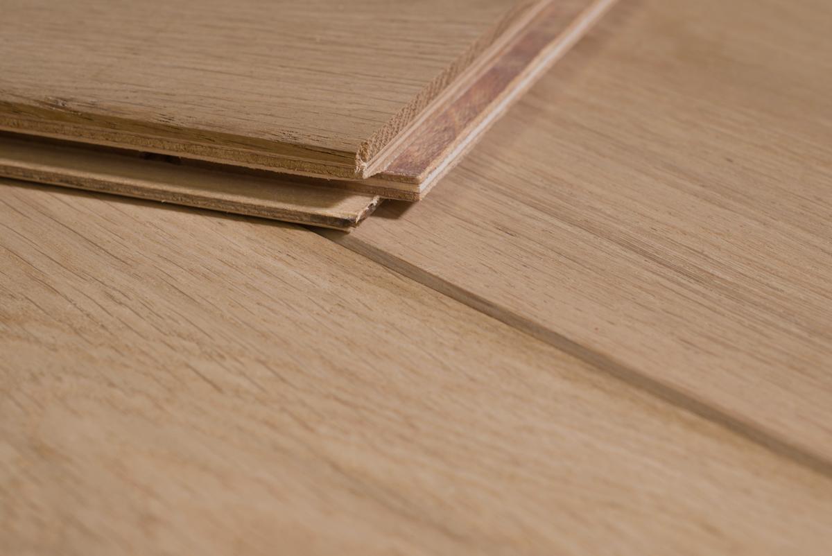 Eiken houten lamel parket vloer onbehandeld hout rustiek abc