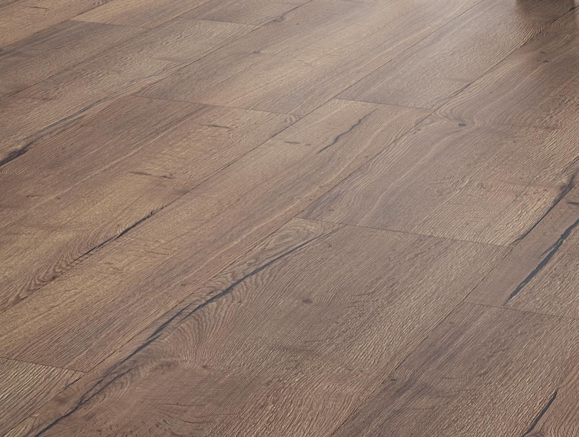 Laminaat Tegels Bruin : Floer landhuis variatie laminaat vloer rustiek bruin eiken