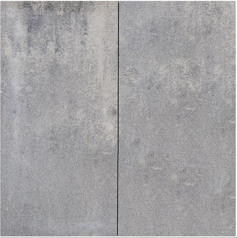 Luxe halve betonnen tegel 30x60 cm grijs zwart dikte 6 cm - Tegel voor geloofwaardigheid ...