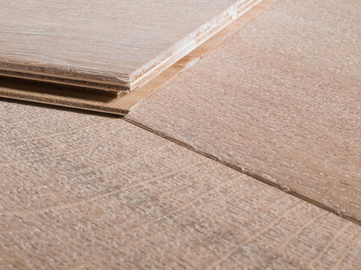 Duoplank Witte Visgraat Eiken Geborsteld Wit Geolied vloer
