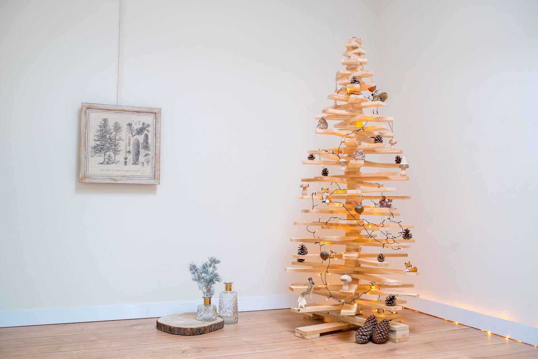 Houten Kerstboom 175 Cm Sloophout Houten Latten 3d Boom