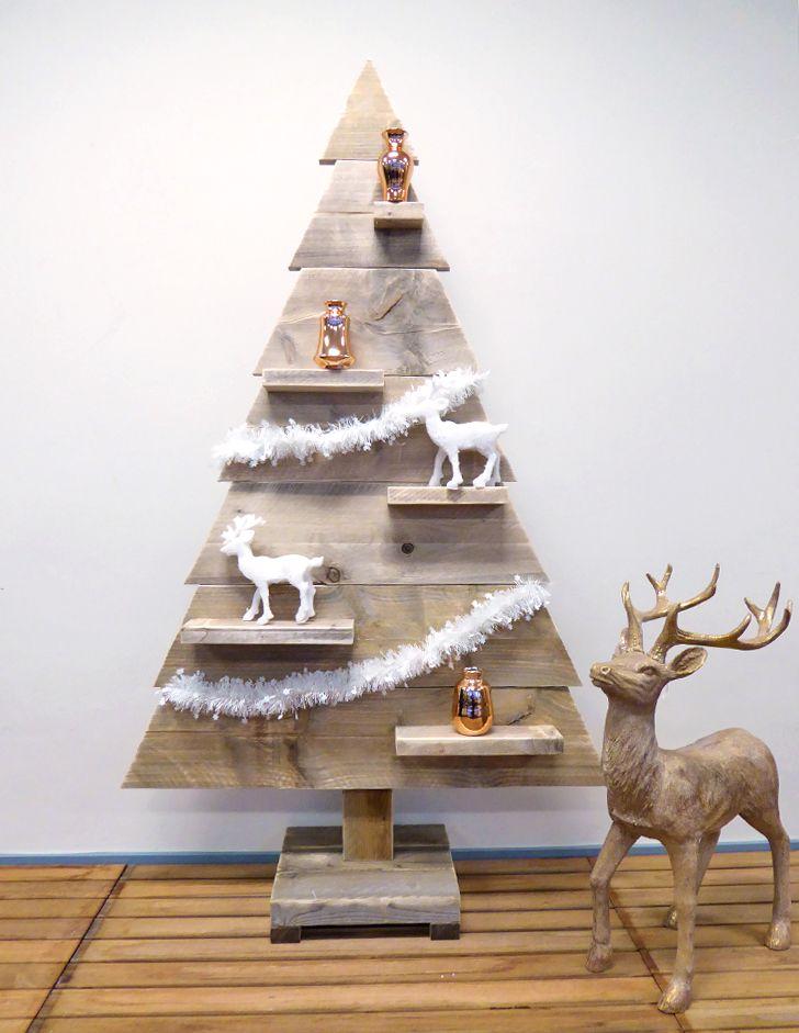 houten kerstboom hoogte 155 cm steigerhout boom steigerplank