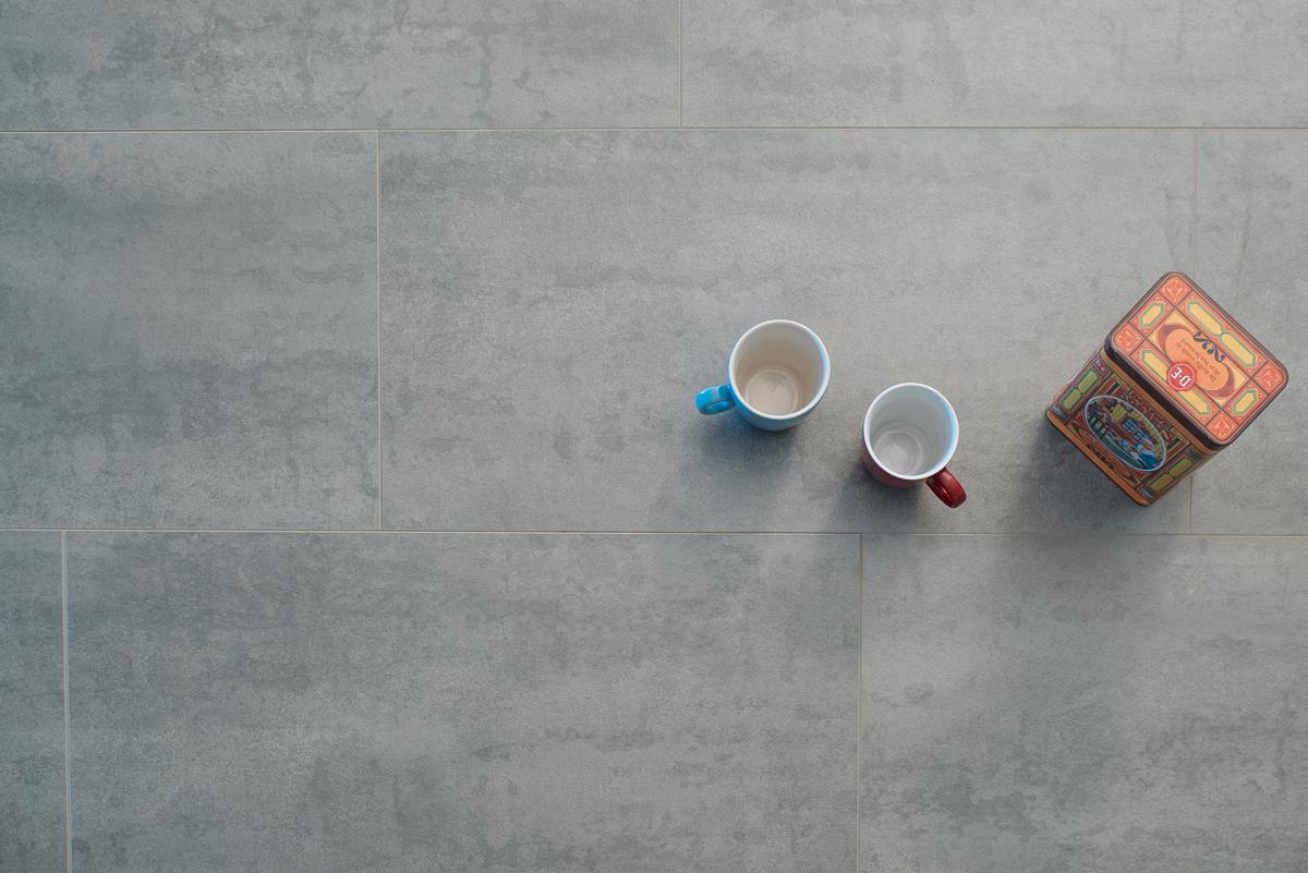 Laminaat Vloeren Goedkoop : Floer laminaat tegel leisteen grijs stenen vloer beton look