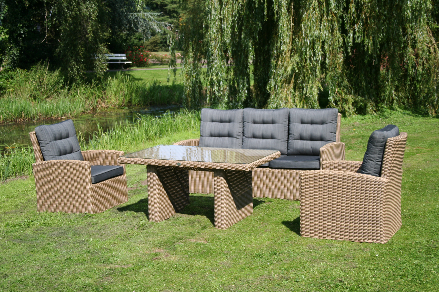 Loungesets buiten wicker tuin loungebank sets terras