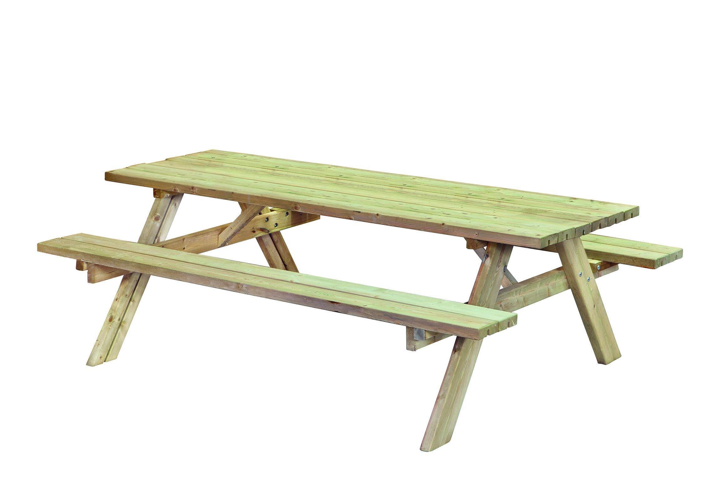 Fonkelnieuw Picknicktafel van hout 200 x 155 cm Gadero extra ZB-29