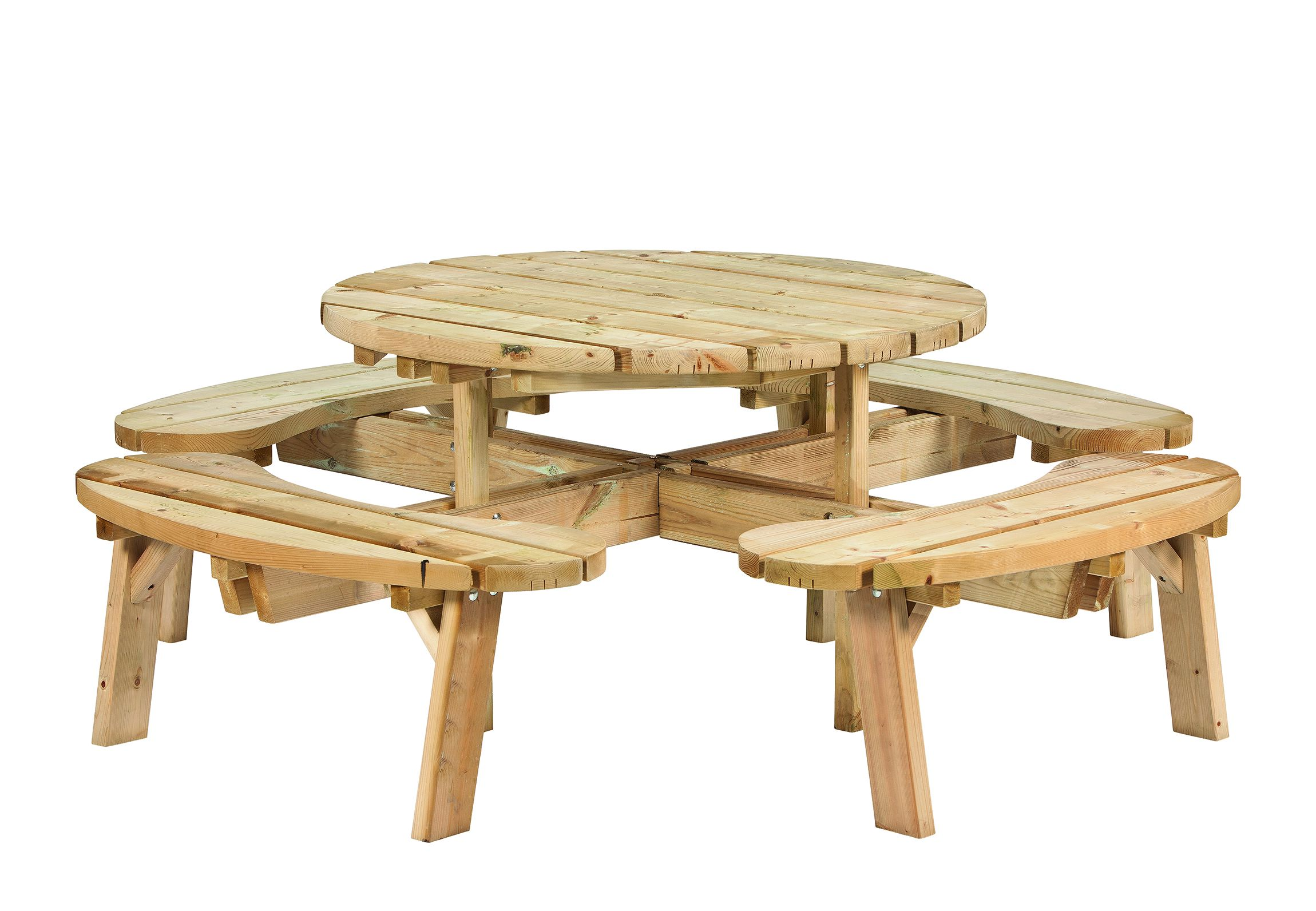 Ronde Houten Picknicktafel.Picknicktafel Rond 219 X 73 Cm Houten Picknick Tafel