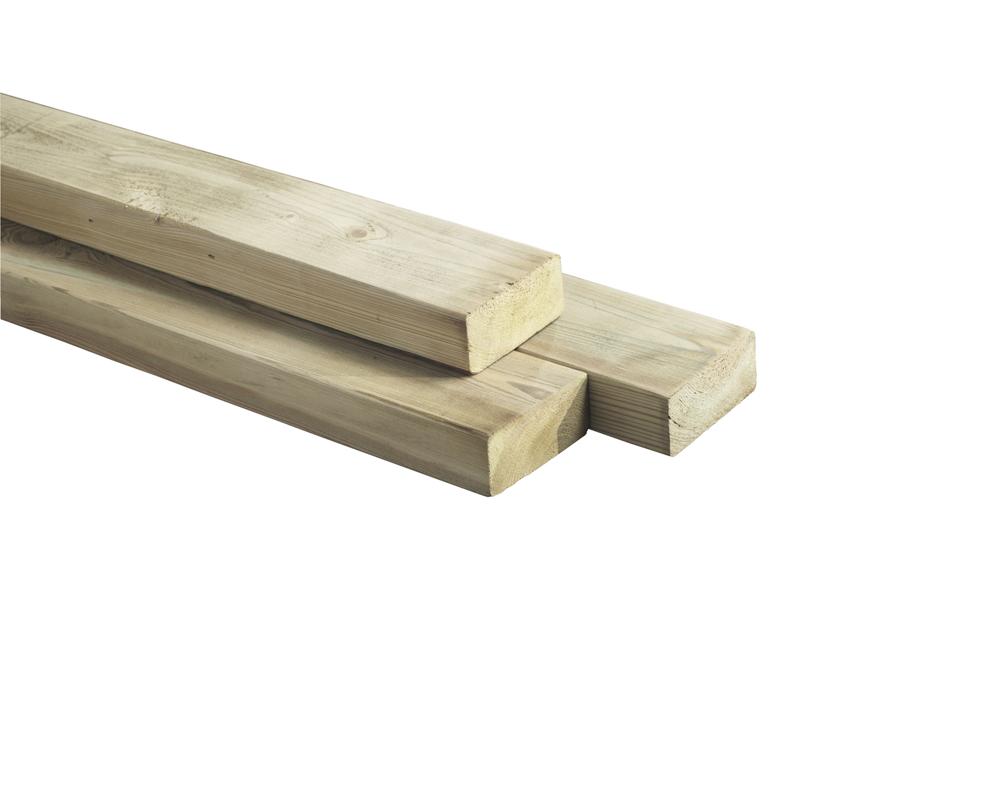 Geimpregneerde regel balk naaldhout 3 2 x 6 x 400 cm houten lat - X houten ...