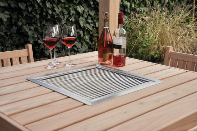 Barbecue tafel lariks douglas 104 x 104 x 107 cm for Bbq tafel maken