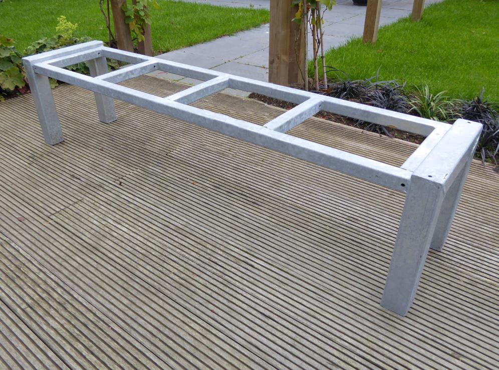 bank-frame-staal-verzinkt-1 Bench 100