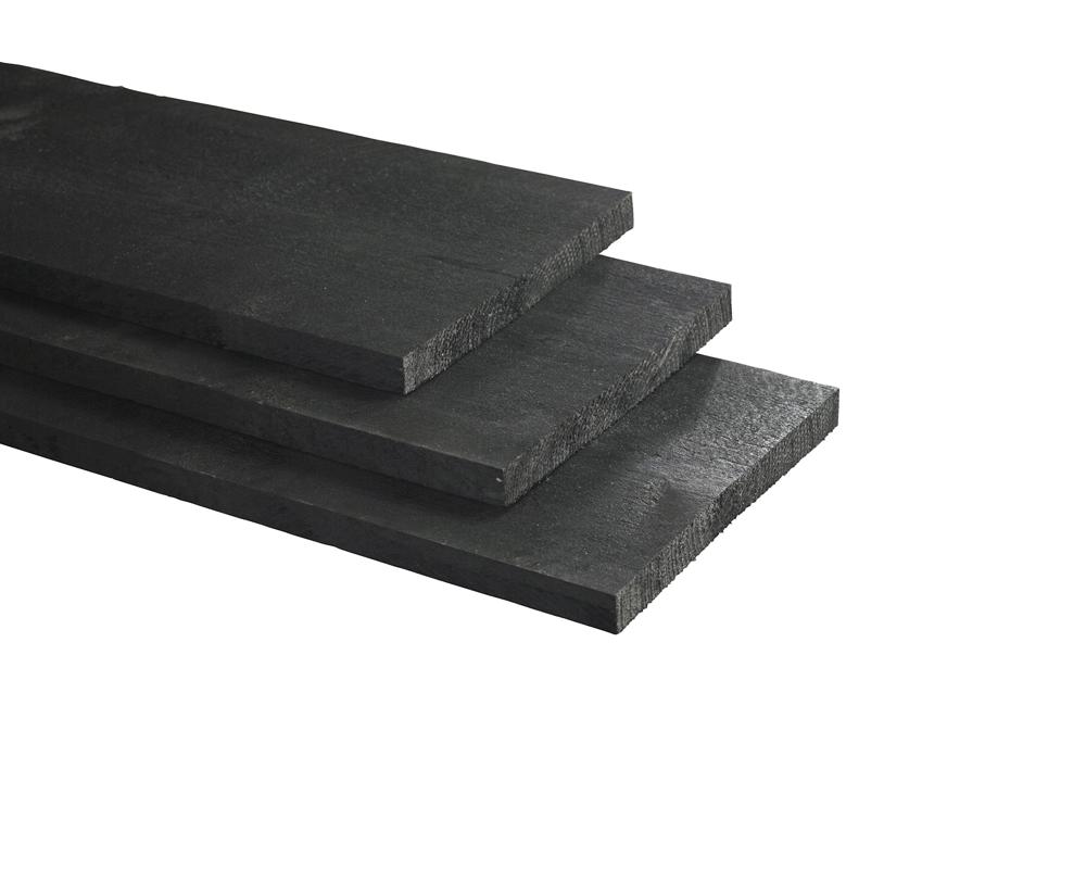 Plank lariks douglas rustiek zwart gecoat 25 27 5 cm breed - Zwart gecoat ...