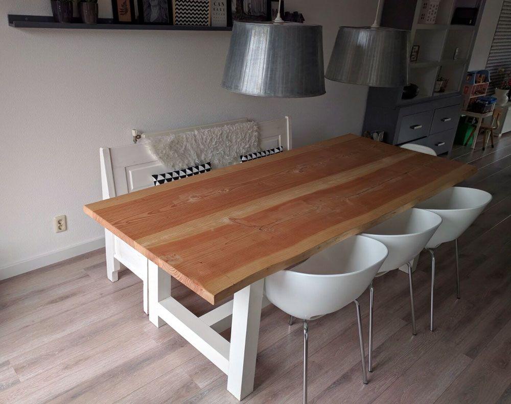 Tafel Van Boomstam : Boomstam tafel lariks hout geschaafd cm