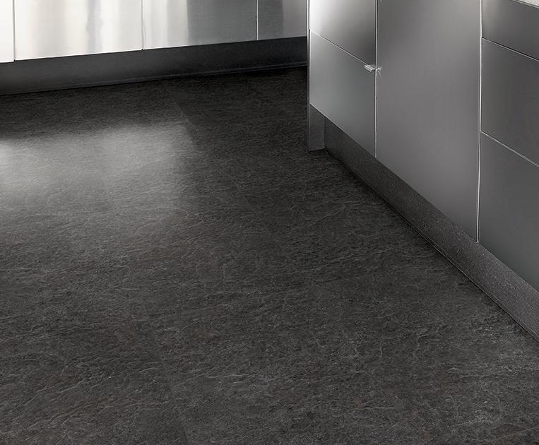 Zwart wit zeil vloer: vinyl benson zwart wit kwantum. zwart wit zeil