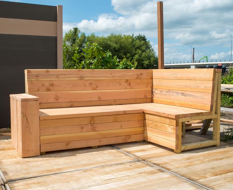 Zelf houten loungebank maken loungeset steigerhout zelf for Zelf meubels maken van hout