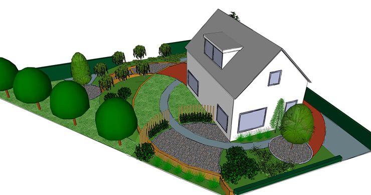 Grote tuin ontwerp 3d tuinontwerp laten tekenen for Ontwerp plattegrond