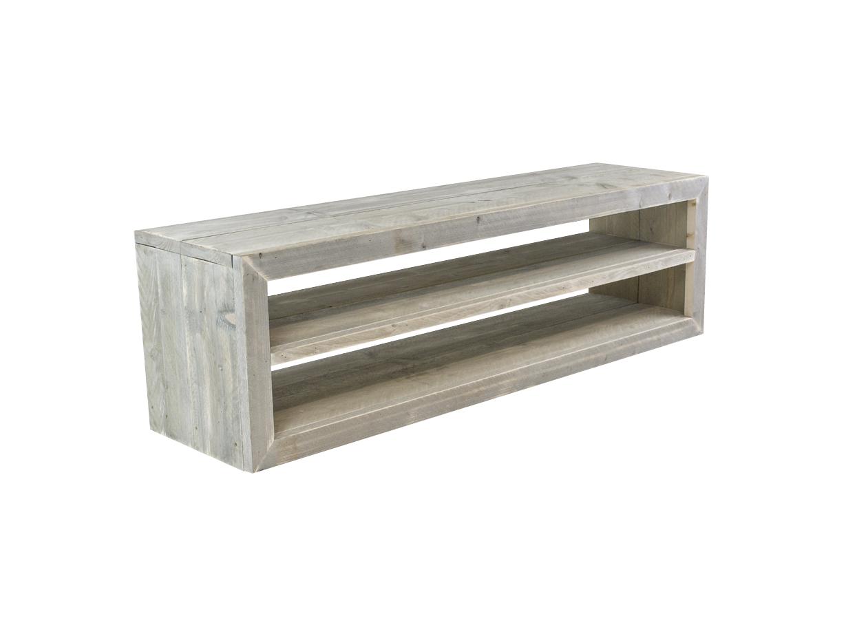 Houten tv meubels steigerhout tv meubel voor tv for Houten meubels