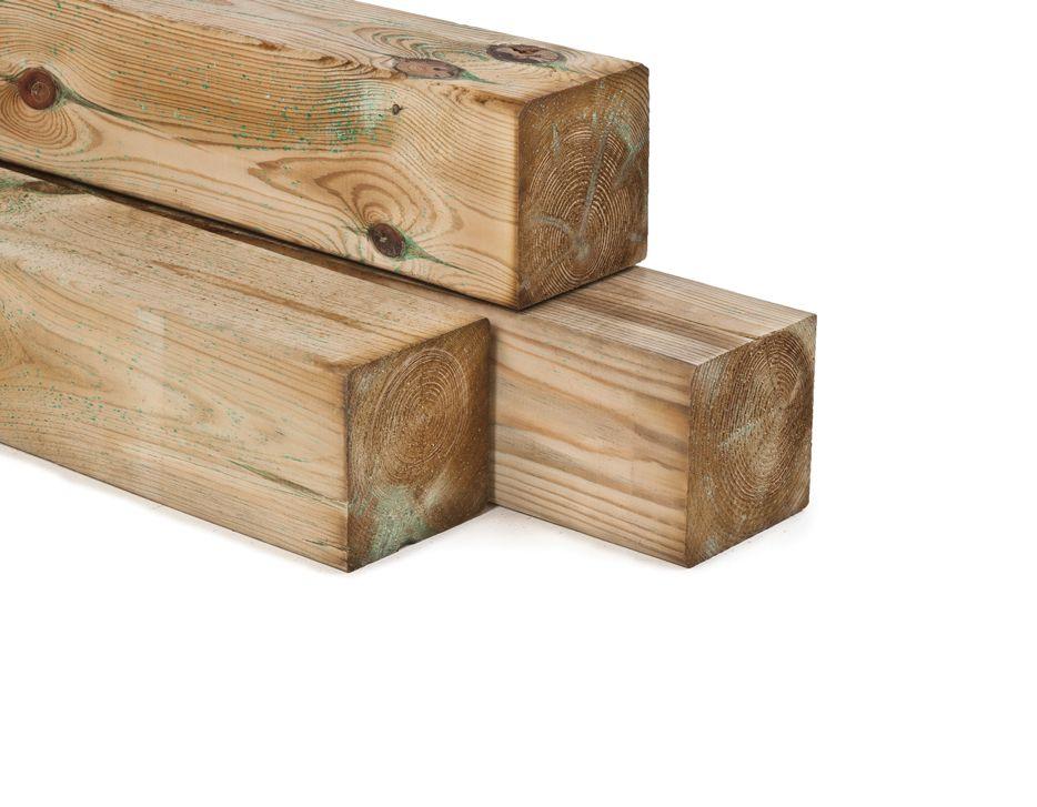 Paal ge mpregneerd hout 12 x 12 cm tuinhout palen 120 x 120 mm - X houten ...