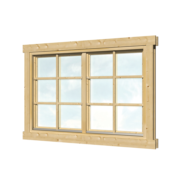 dubbel raam vuren hout 144 5 x 96 6 cm voor dubbel glas. Black Bedroom Furniture Sets. Home Design Ideas