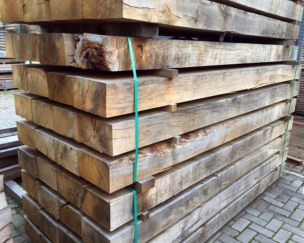 Biels eiken hout  cm spoorbiels
