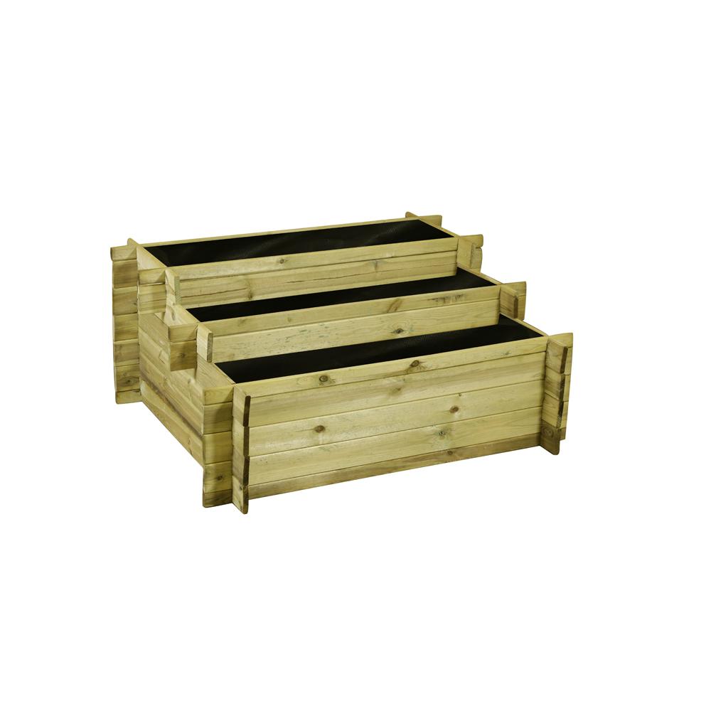 Kruidenbak hout etagere bear county 54 x 100 x 120 cm for Houten tuinkast intratuin