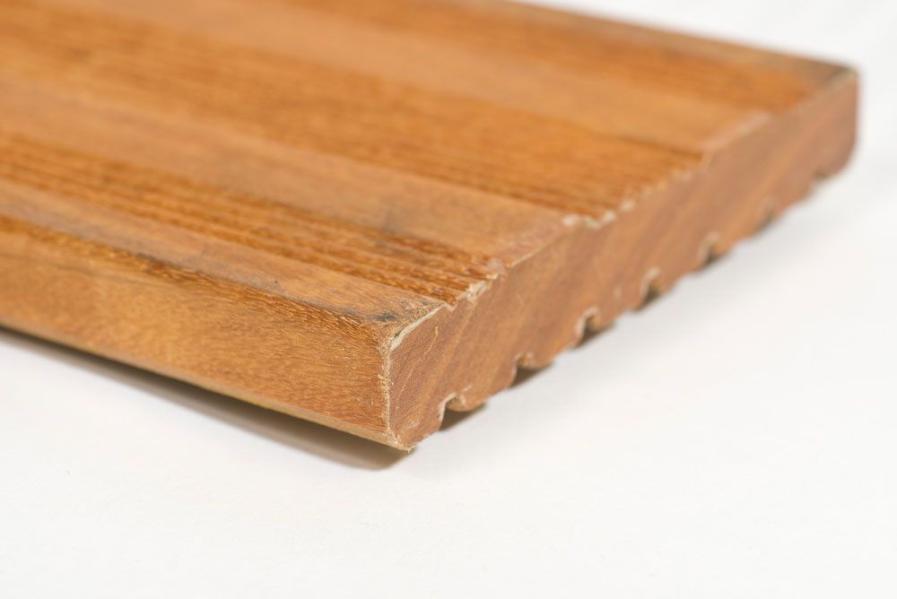 semi ribbel 21 mm vlonderplank garapa hardhout