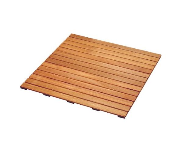 caillebotis en bois dur bankirai 100x100 epaisseur de 2 4 cm offre speciale