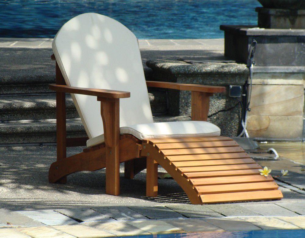 Voetenbankje relax stoel hardhout for Stoel tuin