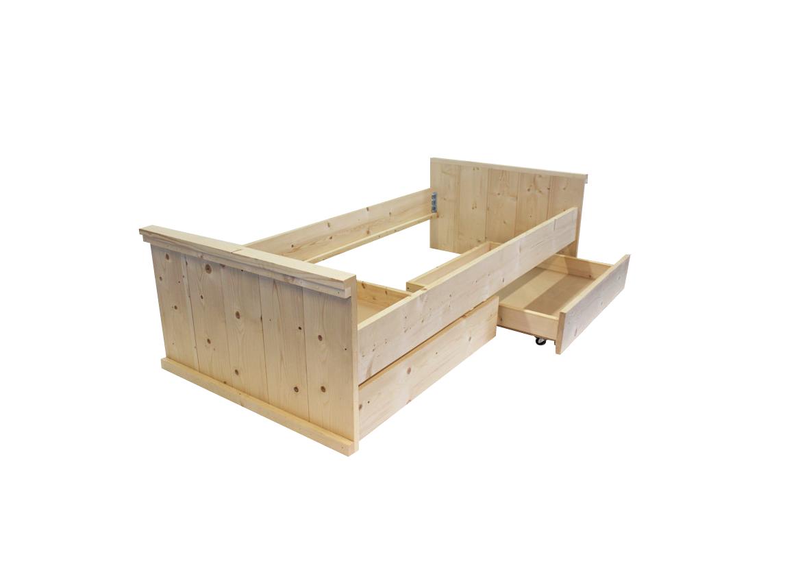 Slaapkamer luchten interieur meubilair idee n - Houten bed ...