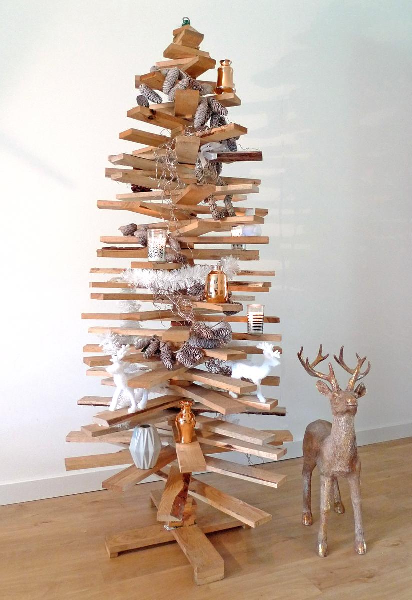 Houten kerstboom 3d hoogte 160 cm latten kerstboom - Versieren van een muur in ...