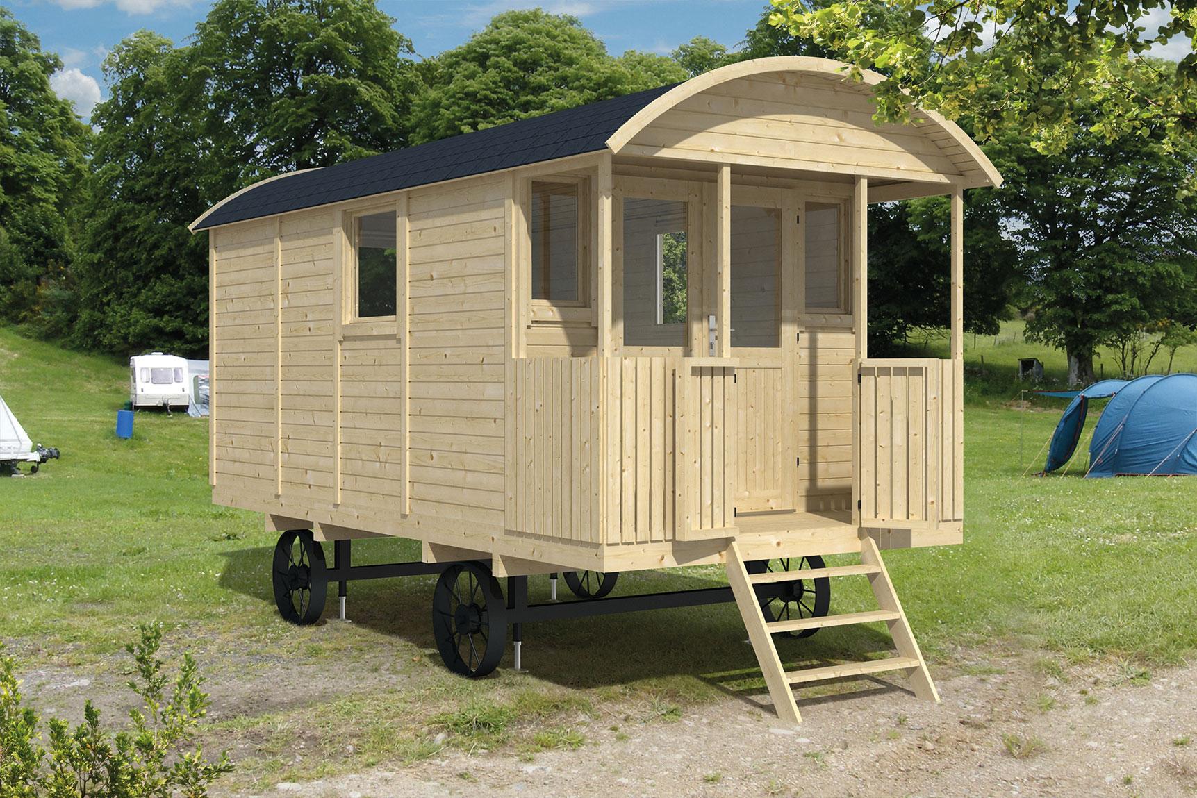 Houten pipowagen kopen 500 x 240 cm schaftkeet te koop bouwkeet - X houten ...