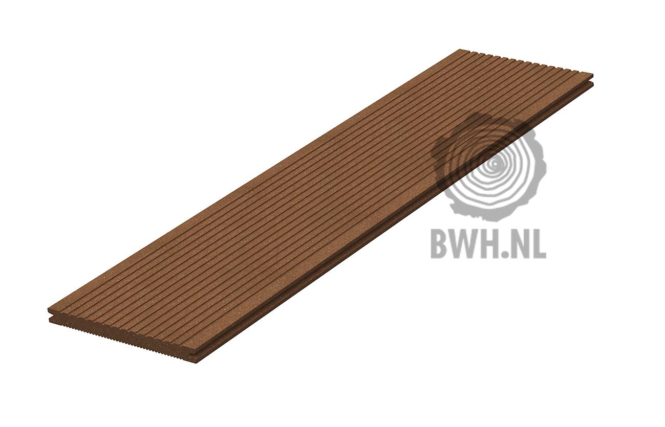 vlonderplank nootbruin composiet megawood 21 x 242 x 4200 mm. Black Bedroom Furniture Sets. Home Design Ideas