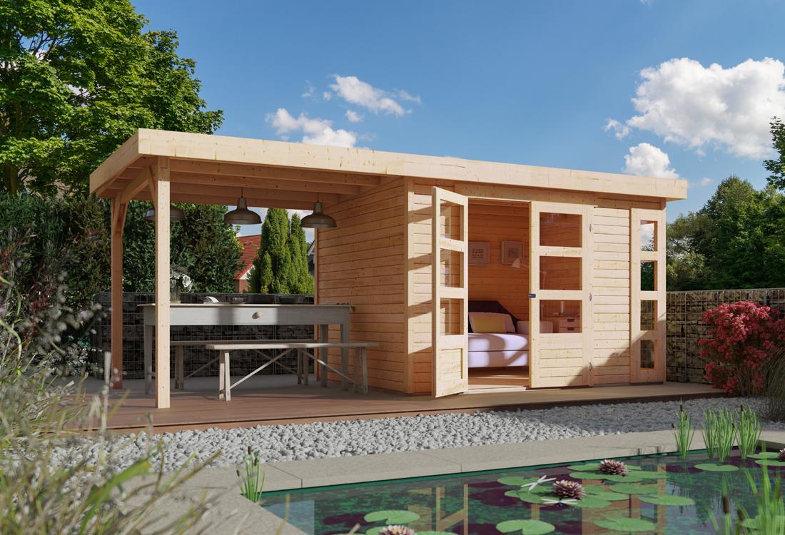 nadat het hout geselecteerd is voor uw blokhut of tuinhuis wordt er een pakket samengesteld hier wordt nogmaals het hout gecontroleerd op de