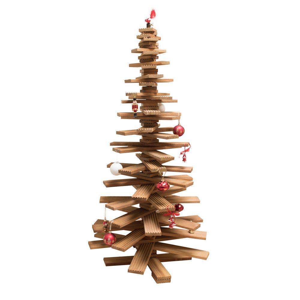 Doe het zelf kerstboom van hout maken 20m bankirai hardhout - Blootgestelde houten bundel ...