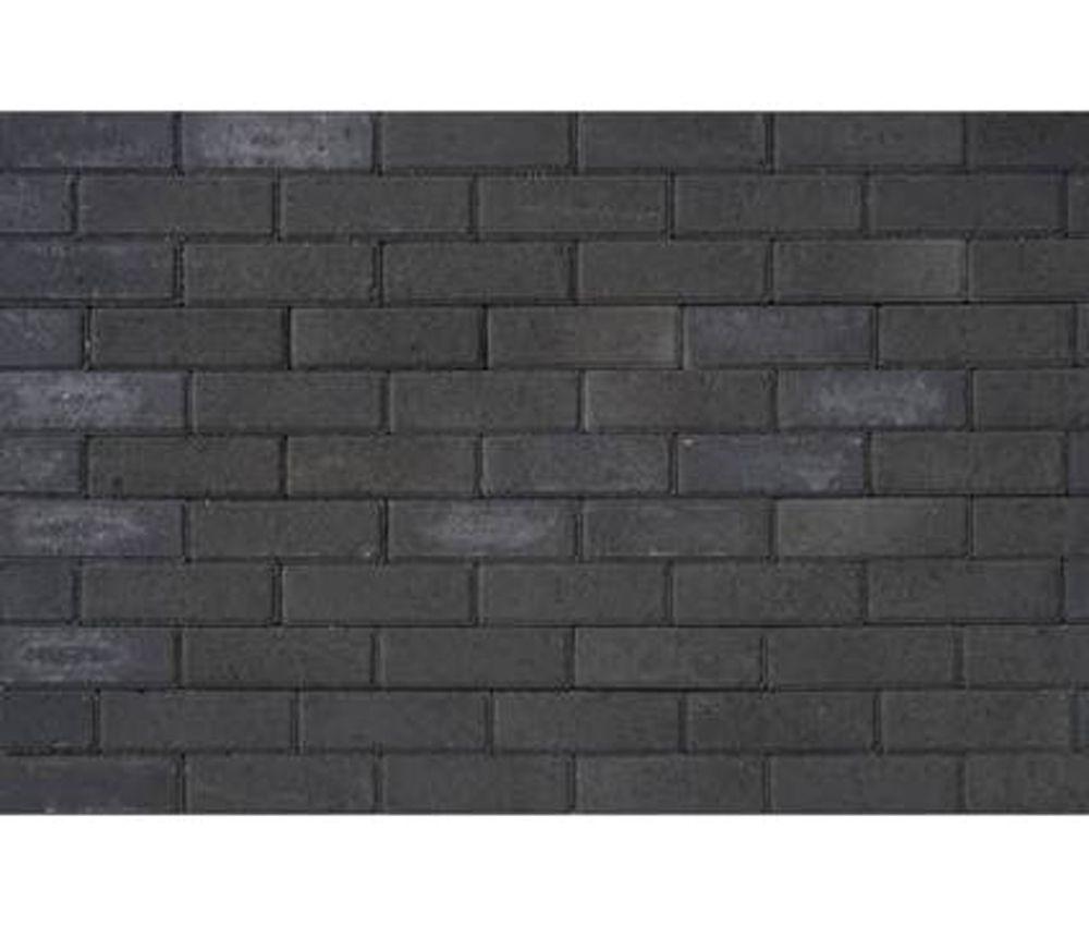 Dikformaat Antraciet Zwart betonklinker Ongetrommeld 21x6.8x6 cm