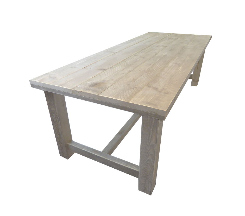 Steigerhout kloostertafel houten tafel 140 x 80 x 78 cm - X houten ...