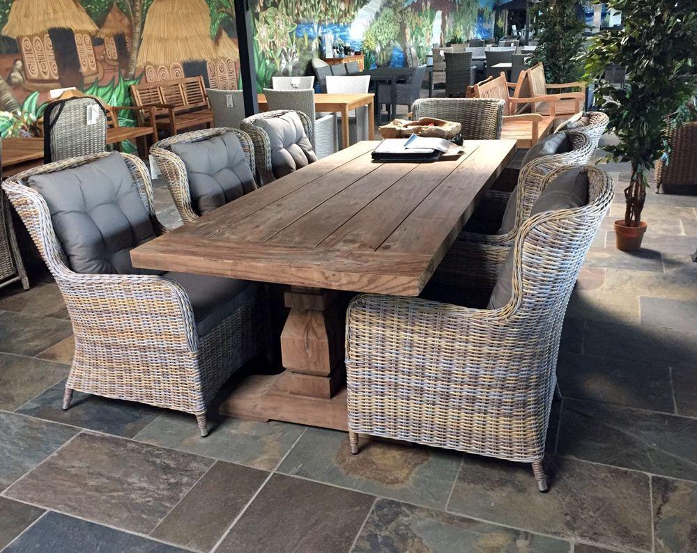 Tuinbank hout grijs lounge corner idee van verhoogd terras naast bestaand terras in - Bank terras hout ...