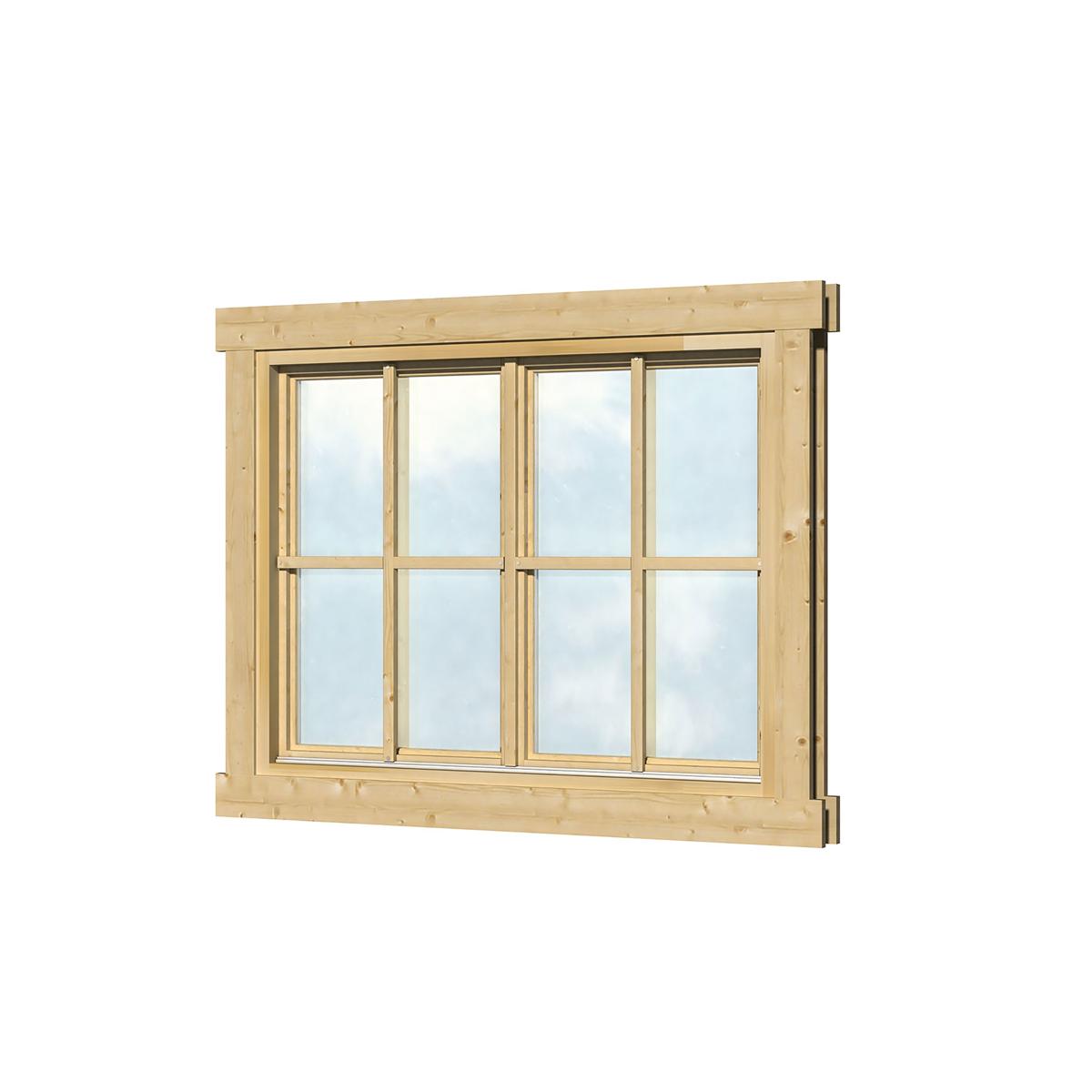 Houten kozijn met draai kiep raam dubbel glas 120x92 cm - X houten ...