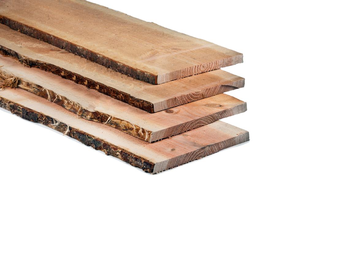 Ruw houten schors planken boomstamplanken