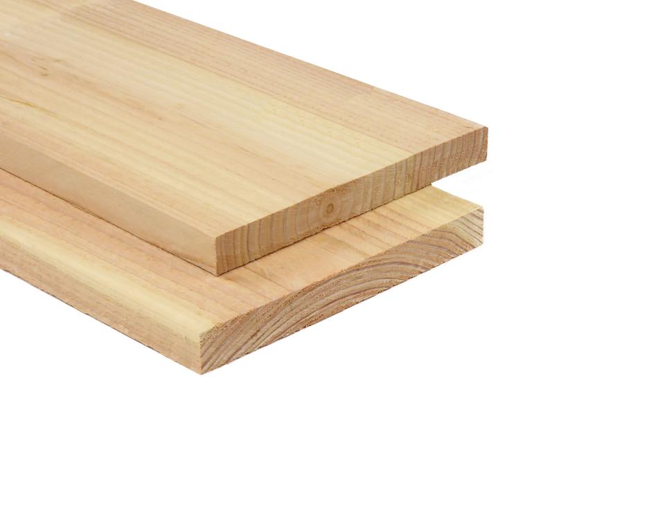 Lariks Douglas Plank 2.5 cm dikte 25 cm breed 4 of 5 meter